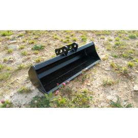 Svahová lyžica na minibager TUR 100 cm