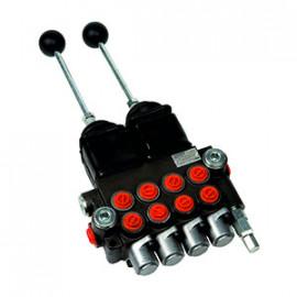 Hydraulický rozvádzač 4 cestný 2 joysticky s dvojitým efektom-40L-250-barov