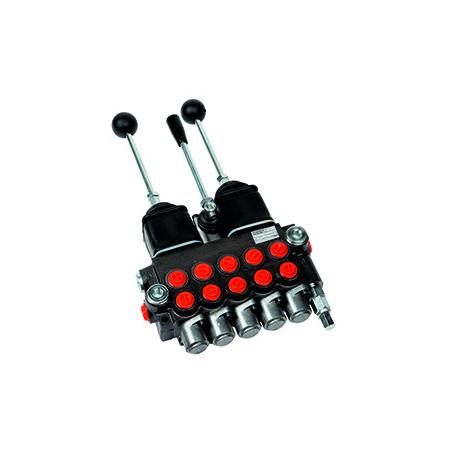 Hydraulický rozvádzač 5 cestný 2 joysticky s dvojitým efektom-40L-250-barov