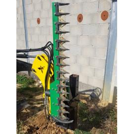 Hydraulické nožnice na trávu, živé ploty pre minibager FENIX 400